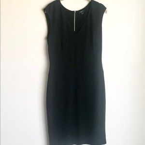Ann Taylor LBD Exposed Zipper Sleeveless Size 8